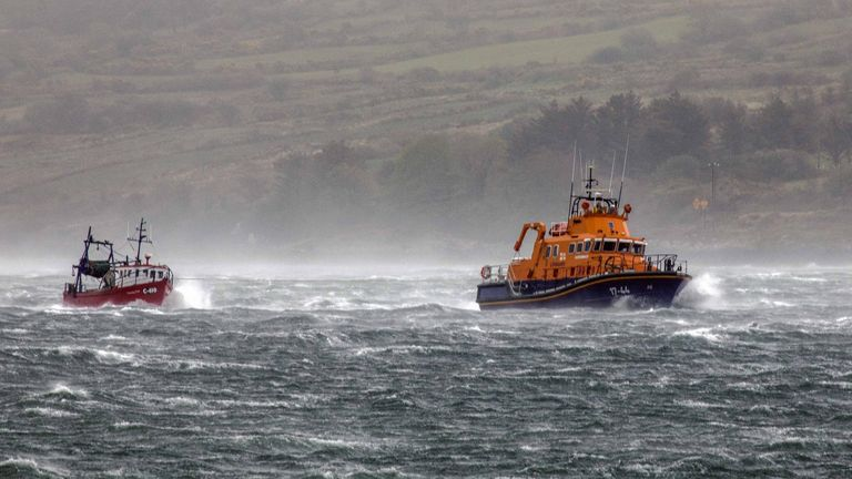 Storm Hannah is battering the UK. Pic: RNLI