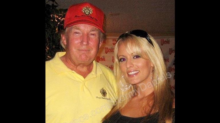 Stormy Daniels with Donald Trump