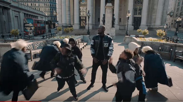 Stormzy's video for new song Vossi Bop takes a swipe at the government and Boris Johnson. Pic: Stormzy/ YouTube