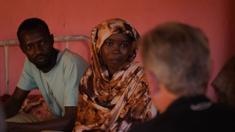 Siblings Omar (left) and Fatma Abubakr (right) are hoping Sudan will become 'good again'