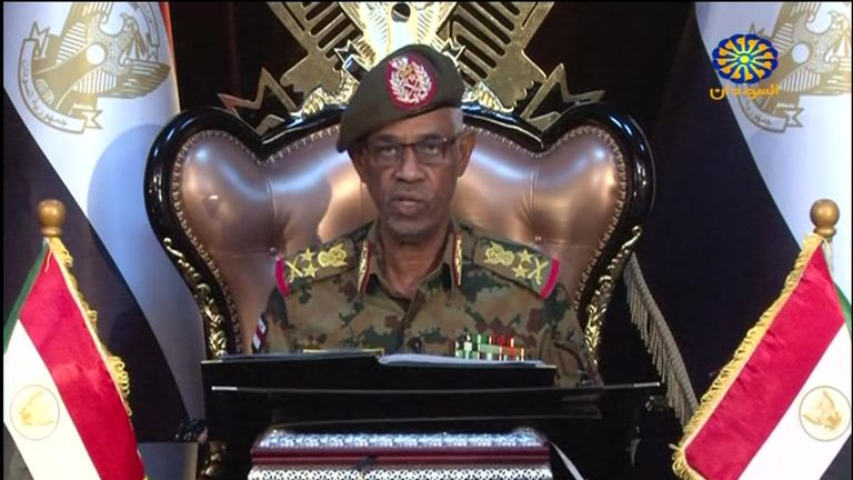 Sudanese Defence Minister Awad Ibn Ouf announced he is stepping down just a day after he was sworn in
