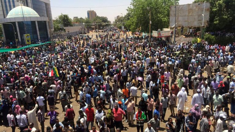 Sudanese protesters are calling on the country's president to step down