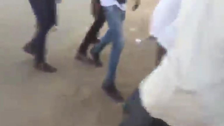 Sudanese soldiers fire live bullets on protesters.