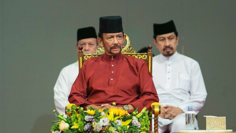 The sultan of Brunei, Hassanal Bolkiah