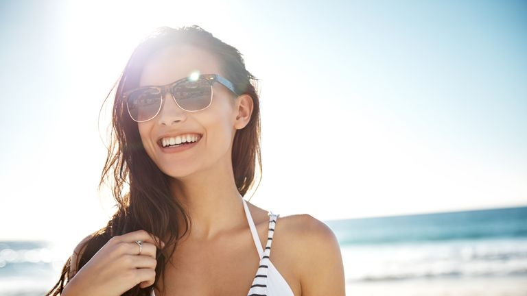 Experts suggest wearing sunglasses to help protect the eyelid regions