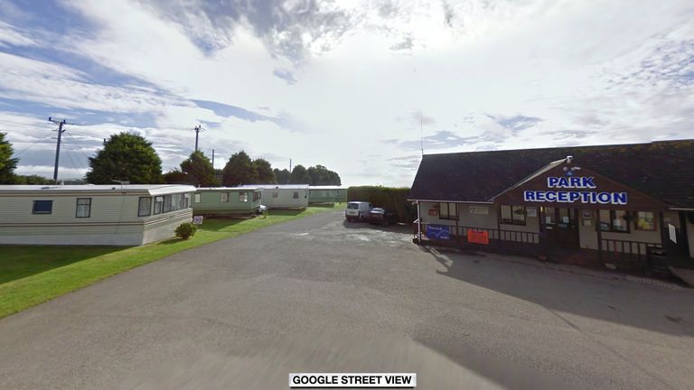 Police were called to a caravan at Tencreek Holiday Park