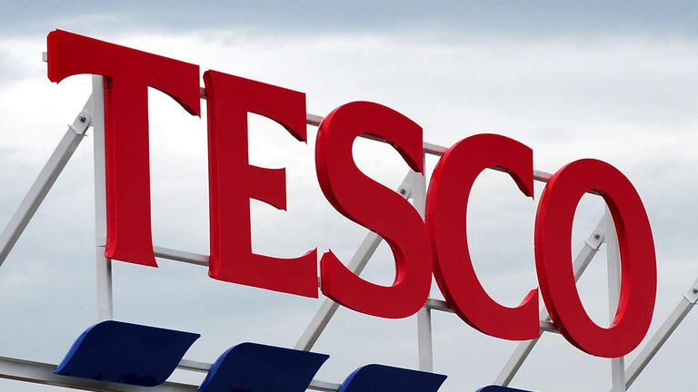 File photo dated 01/08/12 of a sign for a Tesco store, as the supermarket giant will no longer open stores for 24 hours in a step back from round-the-clock shopping.