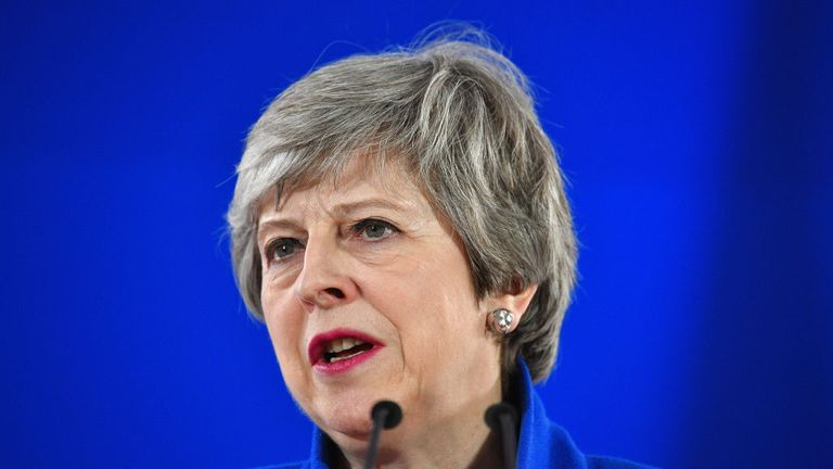 BRUSSELS, BELGIUM - APRIL 11: British Prime Minister Theresa May speaks at a news conference April 11, 2019 in Brussels, Belgium. After May presented her case for a delay, European Union leaders agreed tonight to extend the deadline for Britain's exit from the EU to October 31. (Photo by Leon Neal/Getty Images)