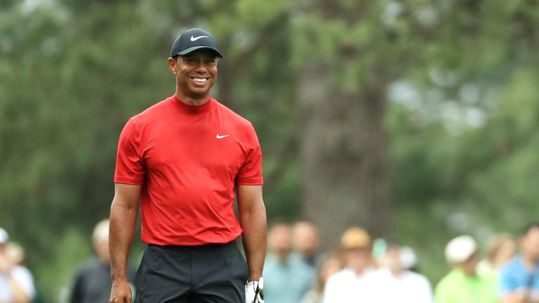 Tiger Woods at the 2019 Masters