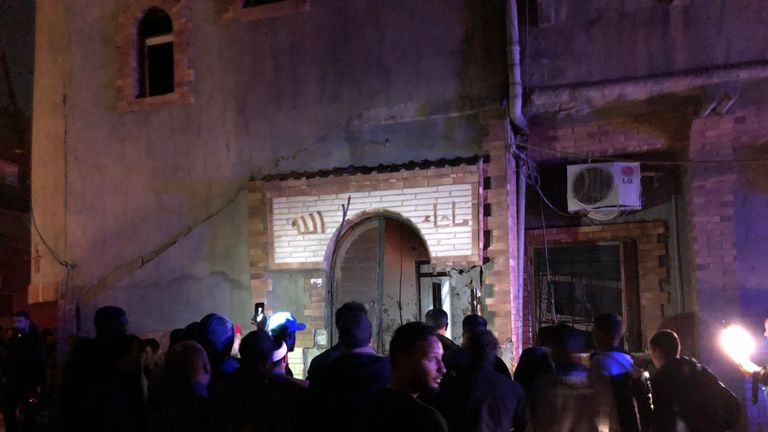 At least four people were killed and 20 injured in the overnight attacks