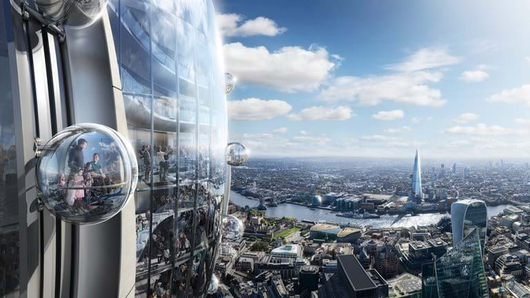 The Tulip skyscraper has been approved for London. Pic: DBOX for Foster + Partners