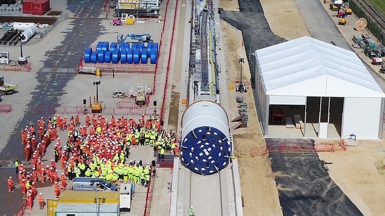 Earlier this month, Sirius showed off its first tunnel boring machine that will create the 23-mile delivery conveyor belt from the Woodsmith Mine to Redcar. Pic: SM