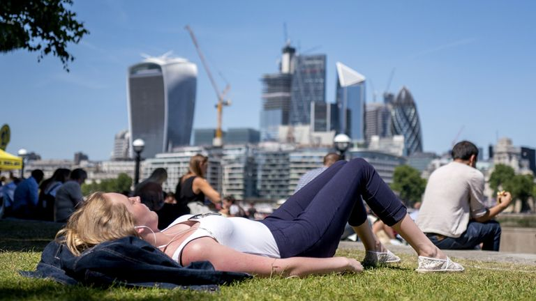 The UK , especially London and the South East, will bask in warm temperatures over the Easter weekend