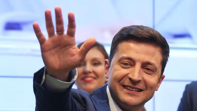 Mr Zelenskiy says the people have voted for change
