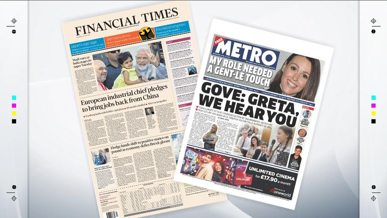 Wednesday papers