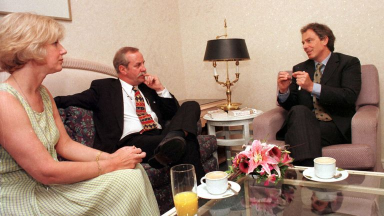 Colin and Wendy Parry meet with former PM Tony Blair in 1998