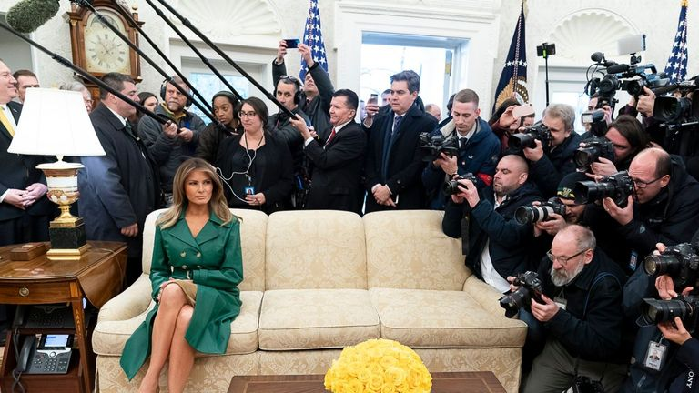 A photo used by the White House to wish Melania Trump a happy birthday. Pic: White House