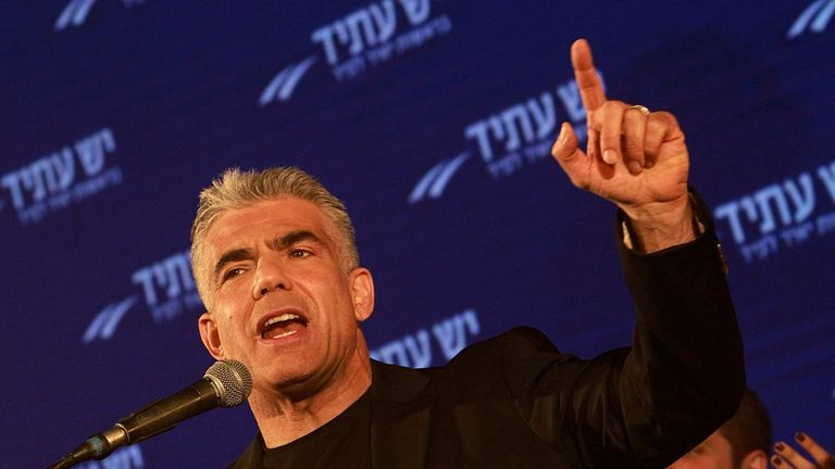 Yair Lapid gave a parting shot to the incumbent PM