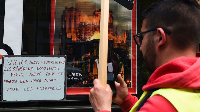 Protesters are frustrated over the lack of response to their demands, while huge donations were sent to Notre Dame