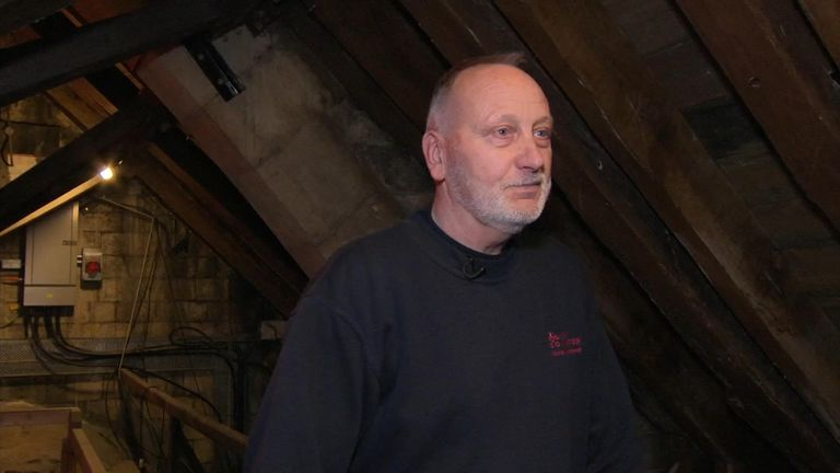 Geoff Brayshaw, who was 27 when the fire ripped through the Minster, replaced the roof timbers