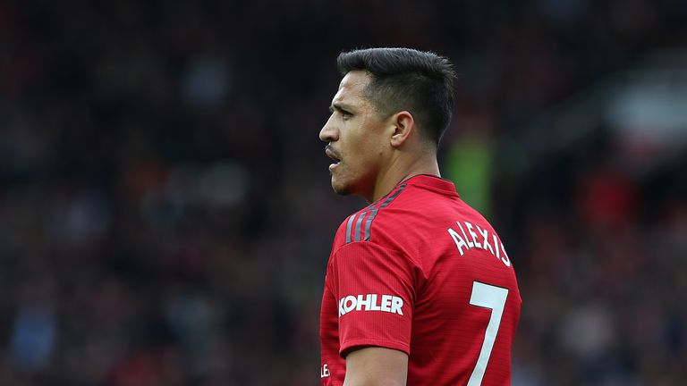 Alexis Sanchez during Manchester United vs Chelsea at Old Trafford