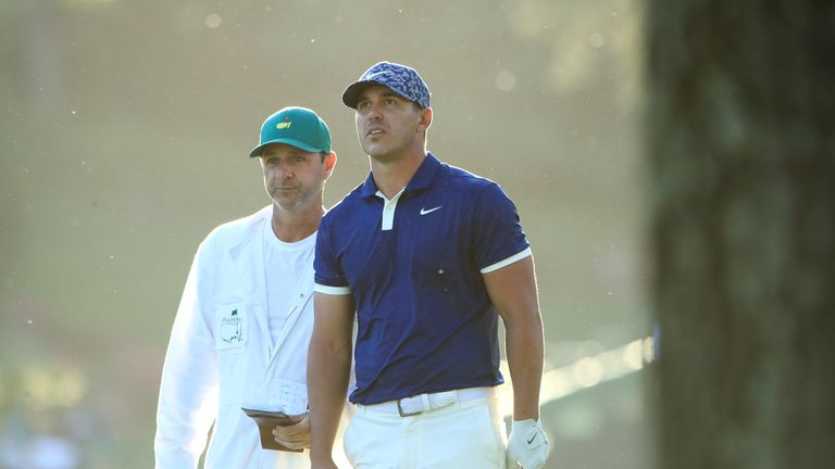 18fe445d51d The Masters  Brooks Koepka and Bryson DeChambeau share first-round lead at  Augusta