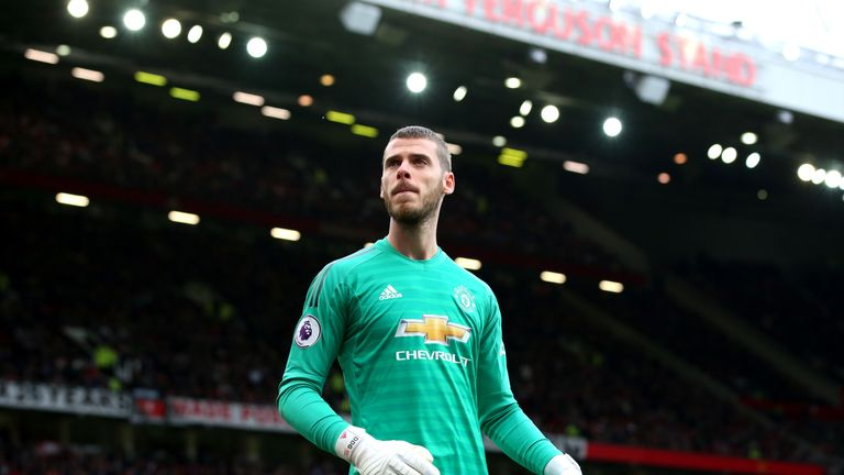 David de Gea during Manchester United's Premier League match at home to Chelsea
