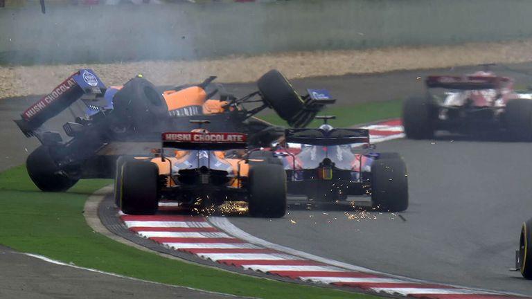 Chinese GP: Daniil Kvyat hits Lando Norris and Carlos Sainz | F1 News