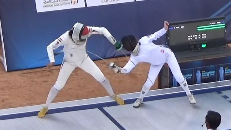 Highlights of Francesca Summers as she produces fireworks at the Modern Pentathlon World Cup in Cairo