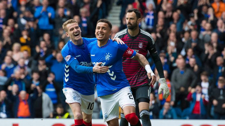 Highlights of the Scottish Premiership match between Rangers and Aberdeen.