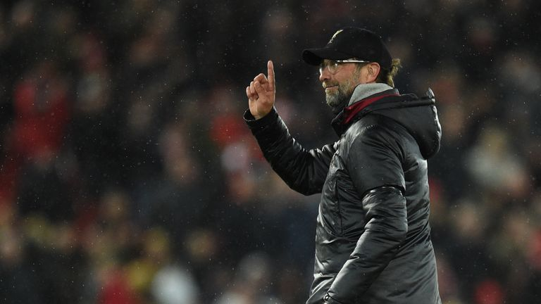 Liverpool manager Jurgen Klopp expects to see a 'football party with no alcohol' at Anfield on Tuesday