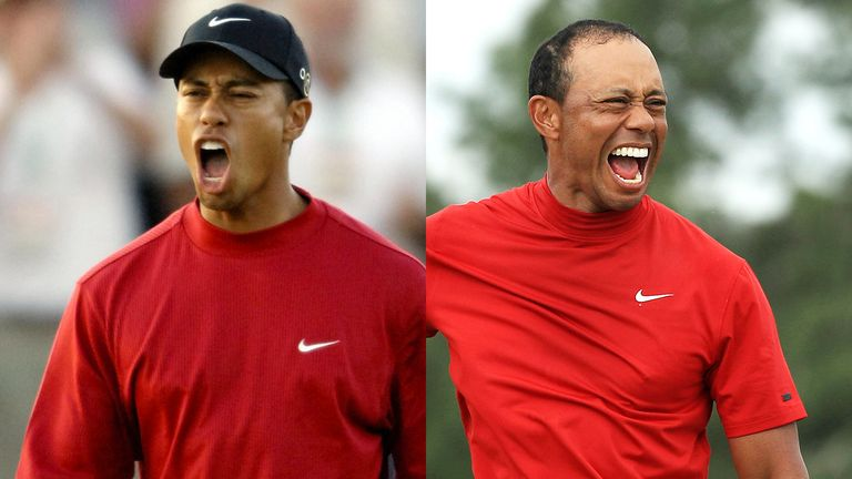 We look back at every celebration from all 81 of Tiger Woods' PGA Tour titles