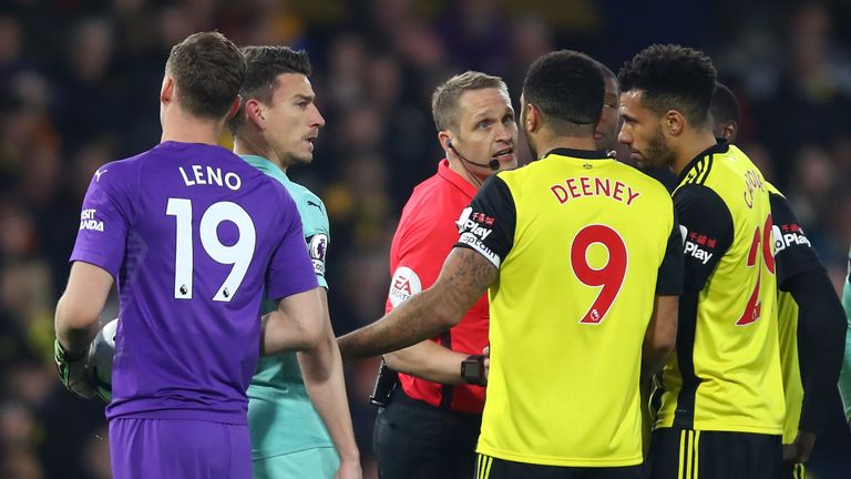 WATCH: Should Watford captain Troy Deeney have seen red against Arsenal? | Football News |