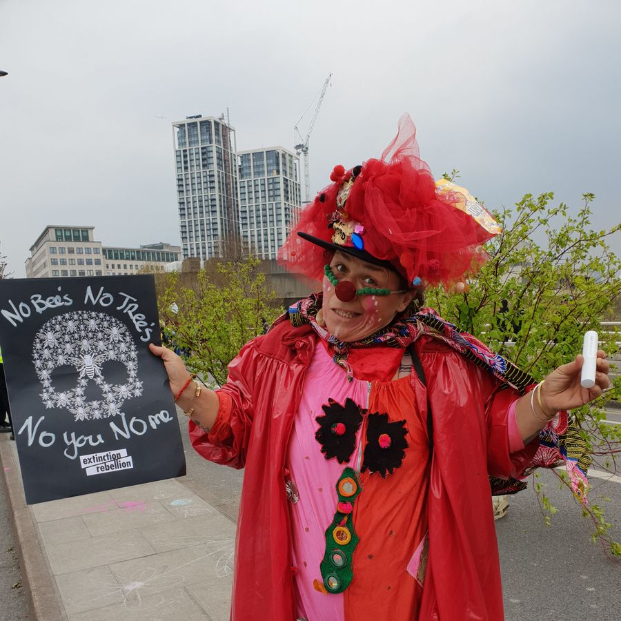 Mina Minae, 'Chaos Clown' and poet, Bristol, 40
