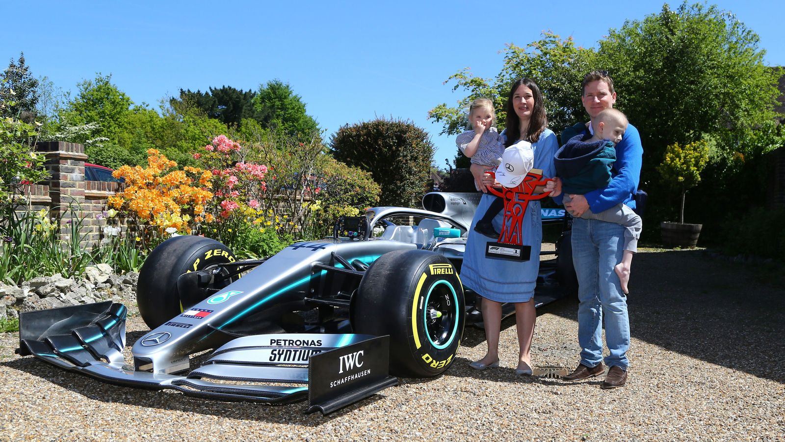 Lewis Hamilton: Mercedes sends F1 car to home of ...