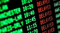 Across all airports, the average delay stood at 16 minutes. File pic