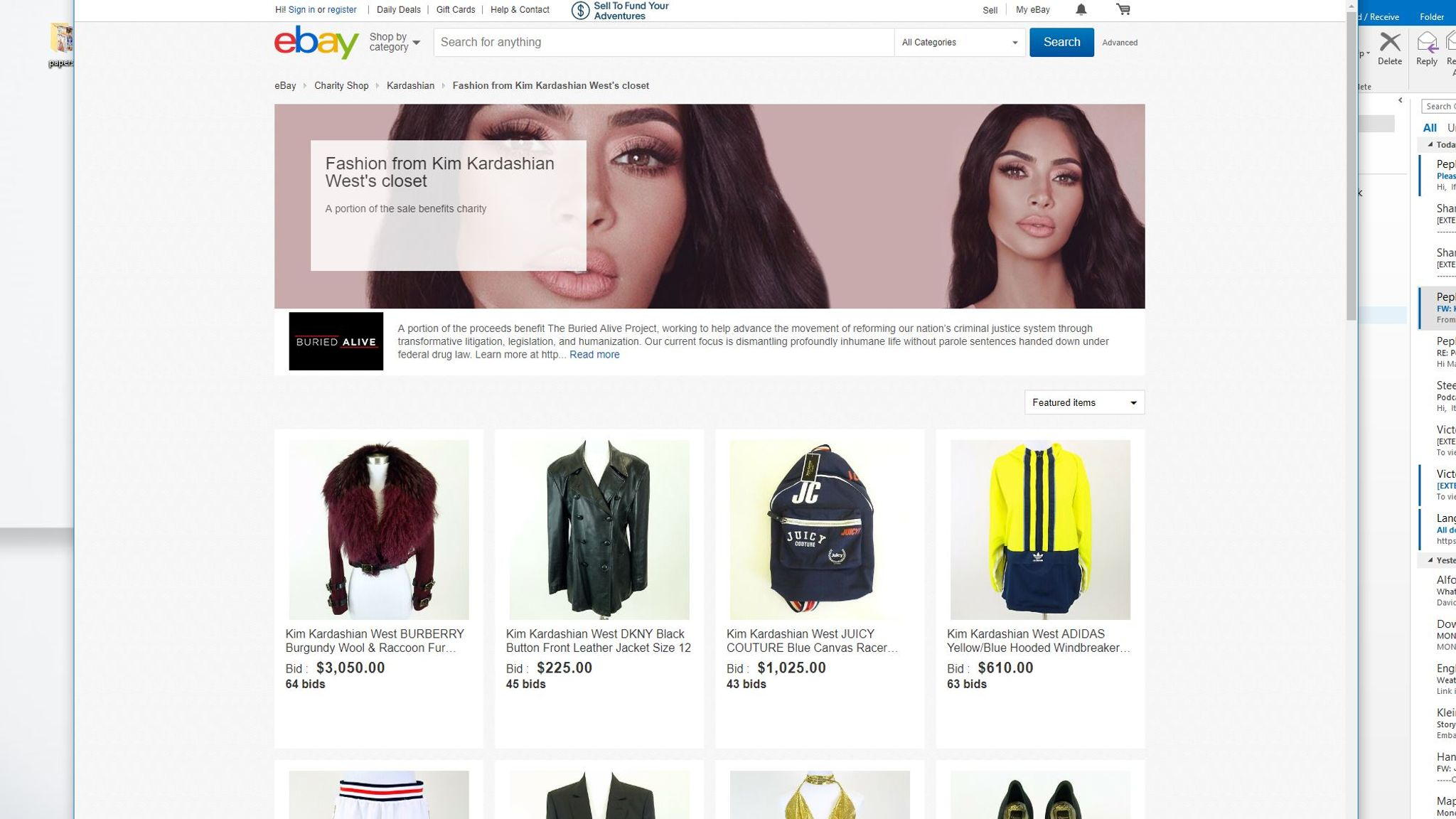 Kim Kardashian West Sells Clothes On Ebay For Justice Project Ents Arts News Sky News