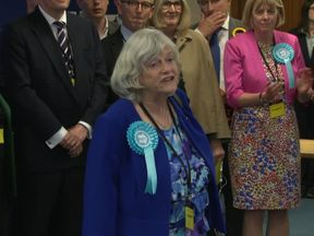 Brexit Party candidate Anne Widdecombe has won a European parliament seat in the South West of England.