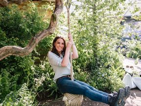 The Duchess of Cambridge in the 'Back to Nature' garden. pic: Kensington Palace