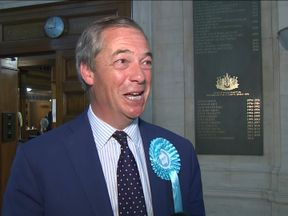 Brexit Party leader Nigel Farage said tonight's EU election results indicated 'a big win for the Brexit party'