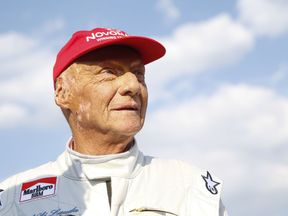 "Formula One legend Austrian Niki Lauda attends the ""legends race"" at the racetrack in Spielberg on June 30, 2018, ahead of the Austrian Formula One Grand Prix. (Photo by ERWIN SCHERIAU / APA / AFP) / Austria OUT (Photo credit should read ERWIN SCHERIAU/AFP/Getty Images)"