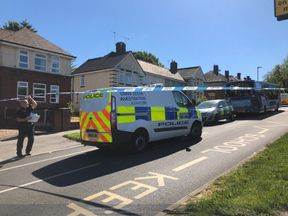 Police at the scene in Sheffield. Pic: Twitter/Hallam FM News