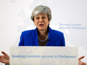 Theresa May said she was willing to compromise