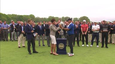 Koepka has the trophy... again!