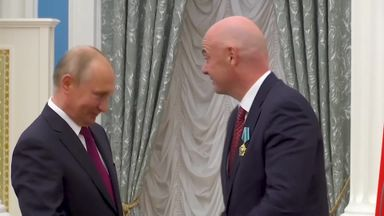 Putin's 'Friendship' award for Infantino