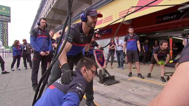 Cesaro joins Toro Rosso in the pits!