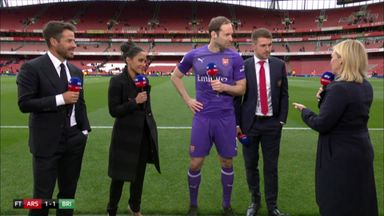 Cech, Ramsey say goodbye