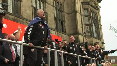 Sheff Utd celebrate PL promotion