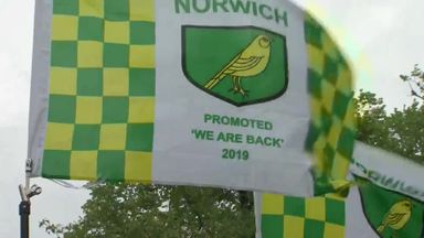 Norwich promotion party gets underway