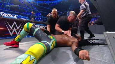 Ziggler brutally attacks Kingston!